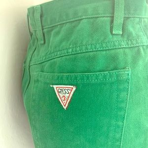 RARE vintage Guess by Georges Marciano Green Jeans